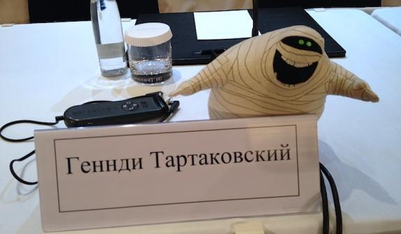 Стол украшали персонажи мультфильма